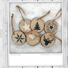 Set van 6 kersthangers gemaakt door Stoer & Co