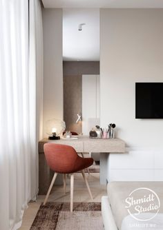 ✔ 70 best minimalist bedroom design you must try 28 Modern Bedroom Design, Home Room Design, Decor Interior Design, Home Office Decor, Home Decor Bedroom, Small Room Bedroom, Suites, Minimalist Bedroom, Apartment Interior