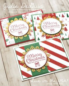 Snowflake Sentiments with Be Merry DSP for Global Design Project 118 | #GDP118 | Stampin' Up! | Quick and Easy Christmas Cards | rubber stamps | The Way We Stamp | Julie DeGuia | Handmade Cards