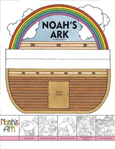"""Noah's ark story stage - also check out http://littleldsideas.blogspot.com/2012/01/noah-was-blessed-for-choosing-right-1st.html   like the idea of """"cranium"""" things to guess the animal - draw, sculpt, or act and the idea of """"filling the ark"""" game by answering the correct question"""