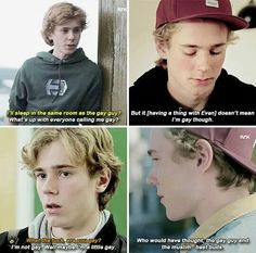 The Evolution of Isak Valtersen Movies Showing, Movies And Tv Shows, Series Movies, Tv Series, Skam Tumblr, Skam Isak, Isak & Even, Cute Gay Couples, Character Development