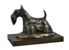Scottish Terrier Woodenbase Statue Figurine Sculpture Limited Edition Artdog | eBay