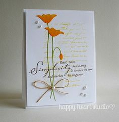simple poppy by nancyljk, via Flickr