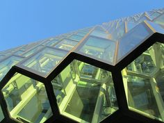 Iceland - Reykjavic - Harpa - Looking up at Glass Panels of building, via Flickr.