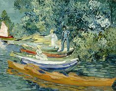 Art of the Day: Van Gogh, Bank of the Oise at Auvers, July 1890. Oil on canvas, 73.3 x 93.7 cm. Detroit Institute of Arts, Michigan.