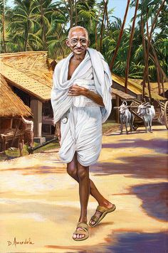 Mahatma Gandhi, portrait, celebrity, india, oil painting by Dominique Amendola Osho, Mahatma Gandhi Photos, Gandhi Quotes, Gandhi Life, 2 October Gandhi Jayanti, Freedom Fighters Of India, Indian Flag, Indian Gods, Indian Art Paintings