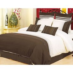 City Superior Vanessa 7-piece Embroidered Duvet Cover Set