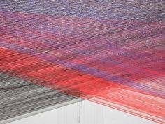 Artist's Insomnia Leads to Large Scale Thread Installation - My Modern Metropolis