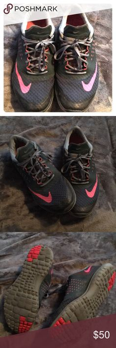 Nike Running Shoes Great condition with only slight signs of wear! Lots of life left in them Nike Shoes Sneakers