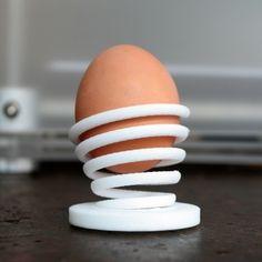 3D Printed / Egg Holder Spring on Behance