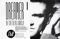Neville Brody - The Face - Morrissey Peter Saville, Editorial Layout, Editorial Design, Page Design, Book Design, Design Ideas, Max Huber, The Face Magazine, Neville Brody