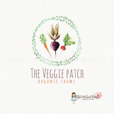 veggie logo design beet logo design carrot logo design onion logo design turnip logo design organic farm logo vegetable logo premade logo
