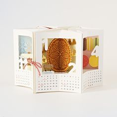 "2019 ""TEMIYAGE"" POP UP CALENDAR | 株式会社一九堂印刷所 Table Calendar Design, Diy Calendar, Pop Up, Creative Design, Design Art, Cut Paper Illustration, Diy And Crafts, Paper Crafts, Bullet Journal Notes"