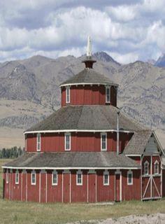 3 Story Round Red Barn