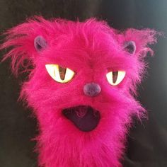 Your place to buy and sell all things handmade Hand Puppets, Arms, Vibrant, Kitty, Fur, Animation, Etsy Shop, Bright, Knitting