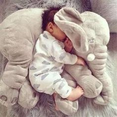 Large Plush Doll Cartoon Stuffed Toys Kids Animal Juguetes Peluches Elephant Pillow Baby Toys For Children Gift Minions So Cute Baby, Cute Babies, The Babys, Baby Toys, Kids Toys, Toddler Toys, Elephant Pillow, Elephant Baby, Stuffed Elephant