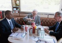 "YEP. ""I'm not a businessman.  I'm a business, man!"" Yeah, that's Jay-Z doing brunch with billionaire Warren Buffet and Steve Forbes."
