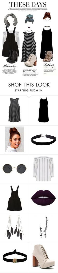 """""""These Days"""" by mickie-pcosta ❤ liked on Polyvore featuring Motel, Miss Selfridge, Warehouse, Monki, Lime Crime, Charlotte Russe, The Flexx and Qupid"""