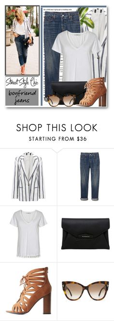 """Boyfriend Jeans"" by brendariley-1 ❤ liked on Polyvore featuring Gap, Gestuz, Givenchy, Delicious, Tom Ford and boyfriendjeans"