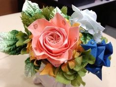 Slide show of origami rose - YouTube