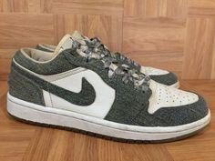 16bb905d79e1 Amazon.com  nike airs. RARE! Nike Air Jordan 1 Retro Low White Leather Denim  315921-141 ...