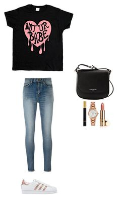 """""""Style #237"""" by maksimchuk-vika ❤ liked on Polyvore featuring adidas Originals, Yves Saint Laurent, Lancaster, Rotary and Tom Ford"""