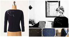 Constellation Cardigan | 50 DIY Anthropologie Hacks For Every Facet Of Your Life