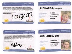 I created a realistic Pen Licence for my year 4 students. It resembles the Western Australian drivers licence. You can use their photos or the school design on the front. The kids love the grown up feeling. Too Cool For School, Back To School, 5th Class, School Design, Classroom Management, Uni, Teaching Ideas, School Ideas, Growing Up