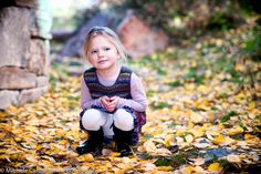 #beautiful little #girl in the #golden #leaves of a #Colorado #fall