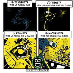 Pessimista, ottimista e realista | BastariDentro Crazy Funny Memes, Wtf Funny, Funny Cute, Funny Jokes, Hilarious, My Hero Meme, Enfants Fairy Tail, Italian Memes, Harry Potter Memes