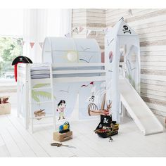 Pirate Pete Cabin Bed with Slide, Tent, Tower & Tunnel - Pirate Pete from Noa and Nani UK
