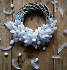 DIY home made hand made Easter door wreath with cheap plastic eggs. Pastel coloured eggs with ribbon. Step by step guide. Easter Wreaths, Christmas Wreaths, Diy Spring Wreath, Easter Holidays, Wreath Crafts, Easter Crafts, Easter Decor, How To Make Wreaths, Easter Eggs