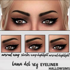 HallowSims LANA DEL REY EYELINER- For Females; - 5 versions; - Teen/Young Adult/Adult/Elder; - Custom thumbnail; - Smooth…