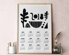 Poster Calendar 2018 Modern Calendar Unique Calendar