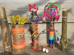 knutselen met takken - Google zoeken Diy For Kids, Crafts For Kids, Arts And Crafts, My Little Monster, Outdoor Learning, Forest School, Fauna, Autumn Theme, Creative Kids