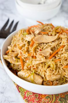 Chow Mein Noodles with Chicken also makes great leftovers. Tomorrow's lunch is taken care of!