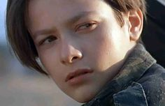 Pretty sure the only reason why I watched Terminator 2 as much as I did was because of Edward Furlong. Edward Furlong, Arnold Schwarzenegger, Kyle Reese, Man In Black, Glendale California, Terminator Movies, John Connor, James Cameron, The Secret History