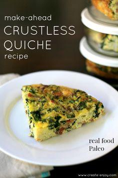 Create / Enjoy: Weekday Breakfast Solution Crustless Quiche Recipe