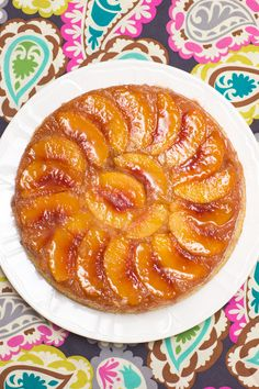 Peach-Almond Upside-Down Cake...Simply incredible!  :)