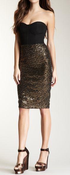 Sequin Bustier Dress / Bardot & Jarlo