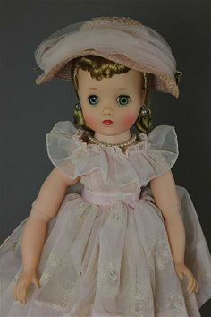 """16 1/2"""" MADAME ALEXANDER """"ELISE"""" IN TAGGED PINK FL - by Apple Tree Auction Center"""