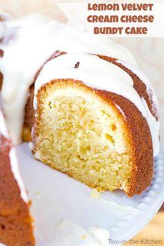 Lemon Velvet Cream Cheese Bundt Cake  Two in the Kitchen vii