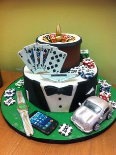 Birthday cake for gamblers