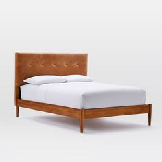 West Elm offers modern furniture and home decor featuring inspiring designs and colors. Create a stylish space with home accessories from West Elm. Tufted Bed Frame, Cushion Headboard, Headboard And Footboard, Upholstered Furniture, Bedroom Furniture, Modern Furniture, Headboards, Bedroom Decor, Bedroom Sets