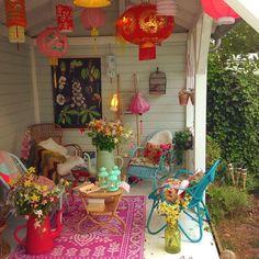 Image result for hippie tropical veranda decor