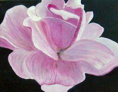 Acrylic  Macro Rose