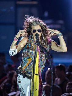 Steven Tyler of Aerosmith performs.