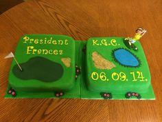 Golf course sugar craft cake. Sugar Craft, Golf Courses, Coin Purse, Purses, Baking, Cake, Crafts, Handbags, Pie Cake