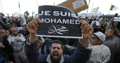 Muslims gathered after Friday prayers, in cities from Algiers to Karachi, to protest against the latest edition of 'Charlie Hebdo.'