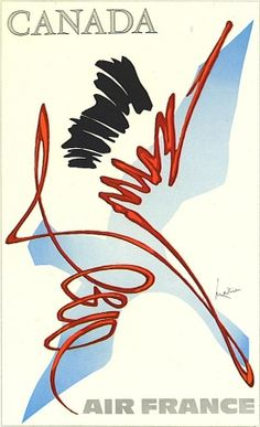 Air France Canada vintage poster